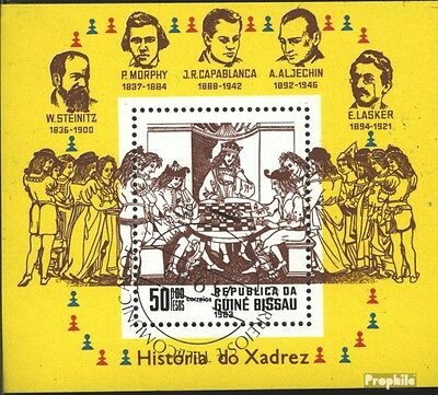 Guinea-Bissau block250 (complete issue) used 1983 Chess