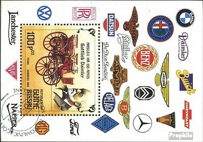 Guinea-Bissau block258 (complete issue) used 1984 Cars