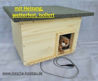 katzenhaus mit heizung isoliert hundeh tte eur 138 90 picclick de. Black Bedroom Furniture Sets. Home Design Ideas