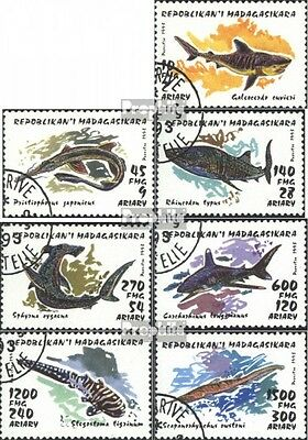 Madagascar 1527-1533 (complete issue) used 1993 Sharks