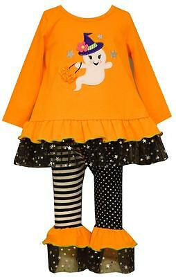 Bonnie Jean Baby Girls' Halloween Ghost Knit Tunic and Leggings Set New