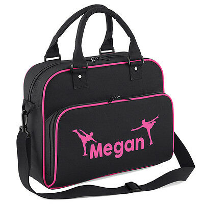 Girl Personalised Ice Skating Dance Bag skates blades guards kids shoulder bag