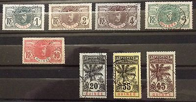 Guinee Francaise 1906 Lot Of 8 Stamps Used Centring Fresh Spl Rare