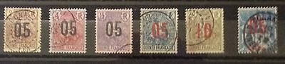 Guinee Francaise 1912 Lot Of 6 Stamps Used Centring Fresh Spl Rare