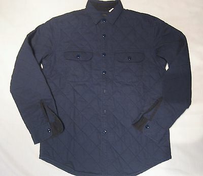 J.Crew Quilted Polyfill Overshirt Jacket 100% Cotton Color:Navy Blue Retail:$168