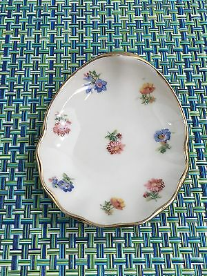 "Royal Heidelberg Winterling FLORAL BUTTER PAT ASHTRAY TRINKET DISH 3 1/2"" X 3"""