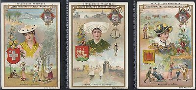 Liebig-*s0492*-Full Set Of 6 Cards- German - French Provinces Iv