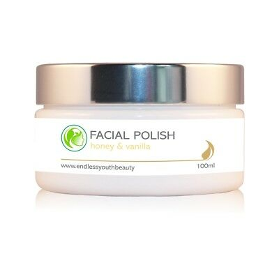 Professional Facial Polish Face Exfoliating Scrub Honey & Vanilla Natural 100ml