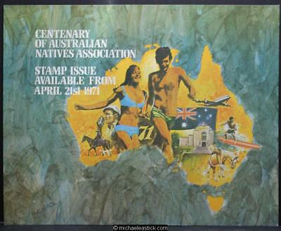 Australia Post display sheet - Cent of Australian Natives Association (1971)