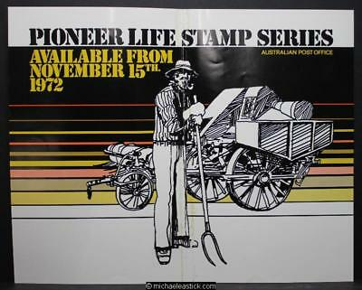 Australia Post display sheet - Pioneer Life Stamp Series 1972 (harvester)