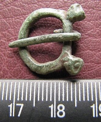 Authentic Ancient Artifact > Viking Bronze Buckle with Bear Heads VK 53
