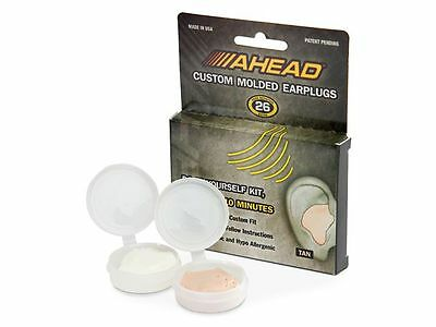 Ahead Custom Molded 'Do It Yourself' EarPlugs Ear Plugs -Tan- 26 NR rating ACME