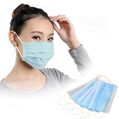 50 PCS Medical Dental Disposable Earloop Face Mask Filters Bacteria Breathable