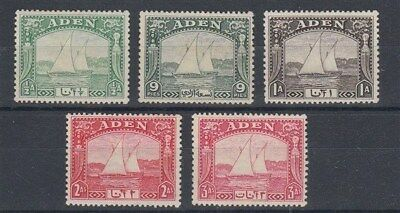 ADEN 1937 DHOWS ½a to 3a (ex 2½a) MINT (x5) (ID:721/D40416)