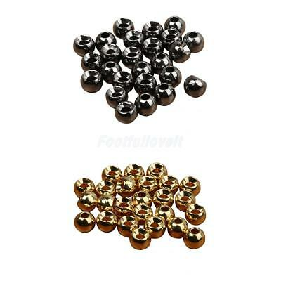 25 x Tungsten Slotted Fly Tying Beads Nymph Head Ball Beads 4 Sizes Hook Sinking