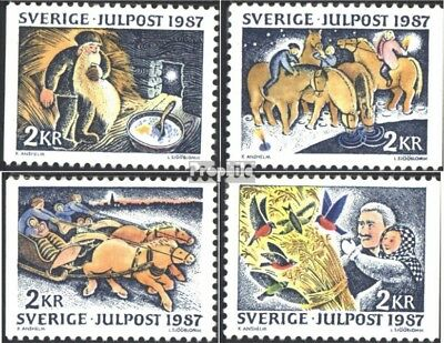 Sweden 1457-1460 (complete issue) used 1987 christmas