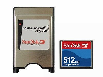 SanDisk 512MB CF Compact Flash+ATA PC Adapter=512MB PCMCIA Flash Disk For flange