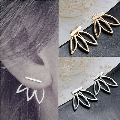 Fashion Women Lady Lotus Flower Earrings Ear Hook Stud Jewelry Gift