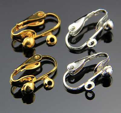 30/90pcs Lever Back Earring Making Ear Clip on Finding Jewelry 18mm