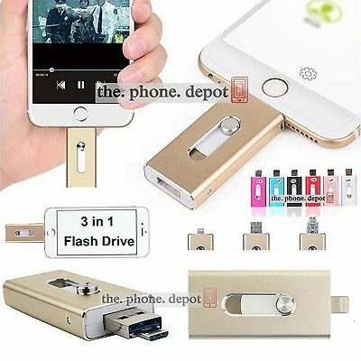 16 32 64 128GB USB i Flash Drive OTG Device Memory Stick For iPhone iPad Android