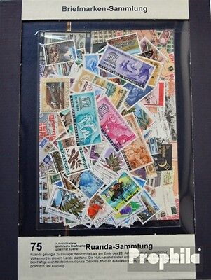Rwanda 75 different stamps unmounted mint / never hinged