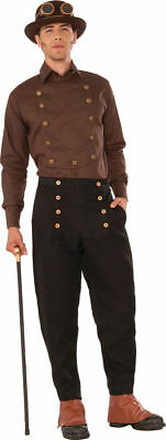 Morris Costumes Men's Long Sleeve Steampunk Shirt Brown One Size. FM76370