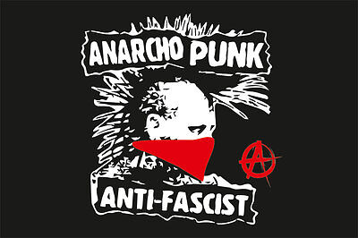 Anarcho Punk Anti-Fascist Flagge