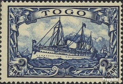 Togo (German. Colony) 17 tested used 1900 Ship Imperial Yacht H