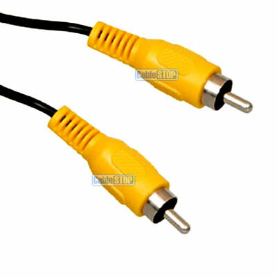 10m YELLOW RCA PHONO Pug to Plug Audio Video Cable AV TV PC CCTV Camera Lead