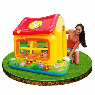 Intex Kids Puppy Love Inflatable Paddling Pool Ball Pit Role Play Sun Shade Toy