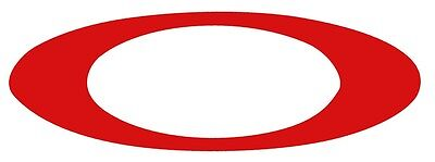 """NEW Oakley Red Icon Sticker/Decal/Emblem 9"""""""