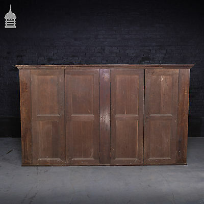 Georgian Twin Cupboard with Oak Doors