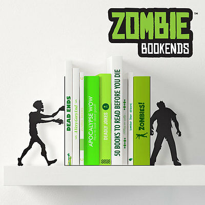 Metal Walking Dead Zombie Shaped Bookends Bedroom