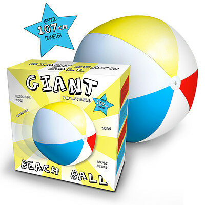 Giant Inflatable outside toys Beach Ball Monster Sized 107cm Beachball