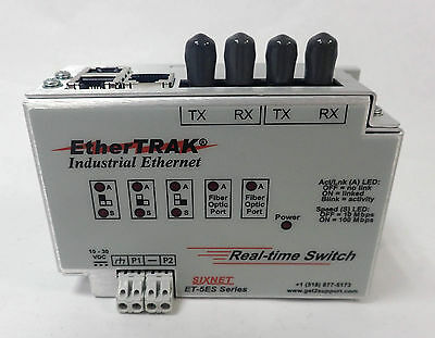 Sixnet Ethertrak Industrial Ethernet Real Time Switch Dual Fiber Model
