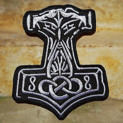 Ecusson Patch thermocollant brodé Viking Thor Hammer