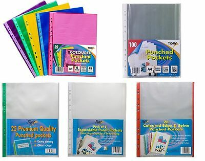 A5 A4 A3 A2 A1 Punch Punched Pockets Filing Clear Display Sleeves Ring Binders