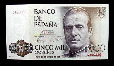 1979 SPAIN Banknote 5000 pesetas UNC FDS GEM HIGH QUALITY