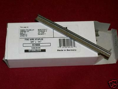 """NEW 3/8"""" 10,000 Stainless Steel Staples #7, #71 Series"""