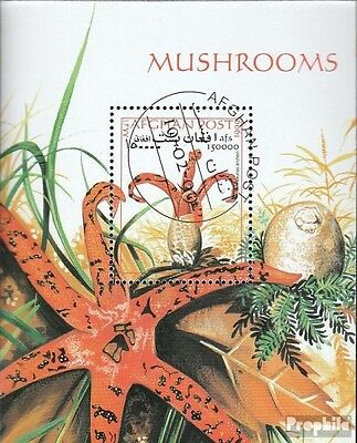 Afghanistan block107 (complete issue) used 1999 Mushrooms