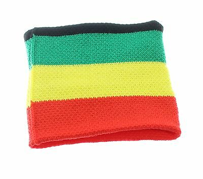 Boys Rasta Colours Knitted Sweatband / Wristband