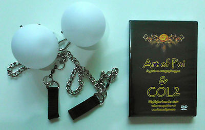 Gift pack L.E.D. Light Poi With Chains art of poi DVD great alternative to fire
