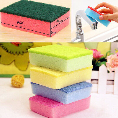10Pcs Household Fashion Exclusive Cleaning Dishes Sponge Eliminate Besmirch Tool