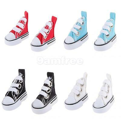 4 pairs of Canvas Shoes for 1/6 Barbie Blythe Pulip Momoko AZONE Dolls Accessory