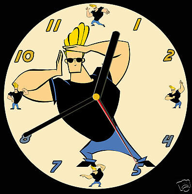 Johnny Bravo CD Clock, can be personalised