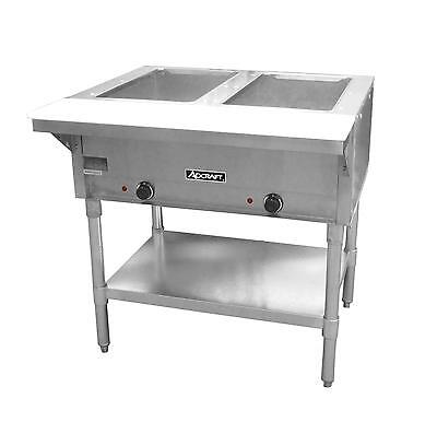 Adcraft ST120-2, 2 Bay Open Well Steam Table, CE