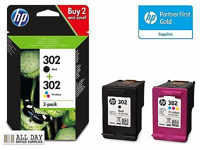 New Original HP 302 Combo Black & Colour inks for Officejet 3630 VAT Included