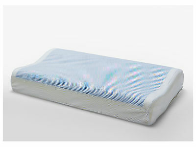 Supreme Contoured Memory Foam Pillow with Coolling Gel Top & Zipper Cover