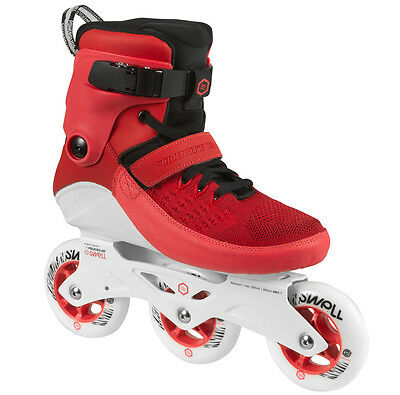Powerslide Swell 100mm Inline Skates, TriSkate Red (Fitness Skates)