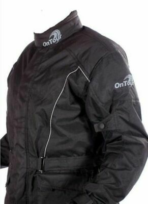 OnTour Waterproof Textile Lined Motorcycle Armoured Jacket RRP £69.99 - SALE